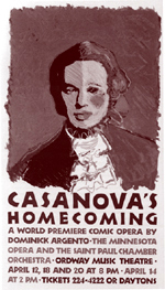 Casanova's Homecoming Poster, Ordway Theater